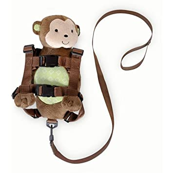 cad162fc5 Amazon.com : Carters Child of Mine 2 in 1 Harness Buddy Pal Monkey :  Toddler Safety Harnesses And Leashes : Baby