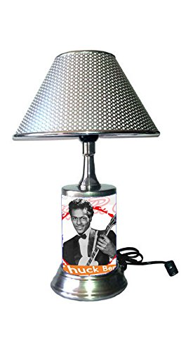 Chuck Berry Lamp with Chrome Colored Shade, Johnny B. Goode