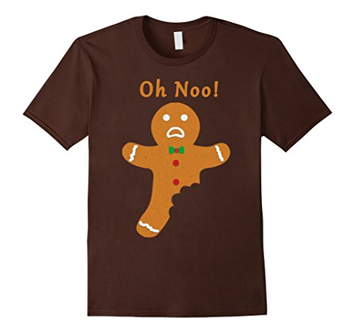 Mens Gingerbread Cookie for Christmas Funny Holiday Gift T-Shirt XL Brown