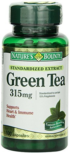 Nature's Bounty Green Tea Extract 315 mg Capsules 100 ea (Pack of 7)