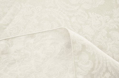 ASD Living Damask Fleur De Lis Round Table Cloth, 120-Inc...