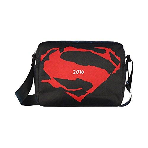 [DOROT Superman Logo Unisex Nylon Waterproof Material Black Cross-body Nylon Bags Shoulder Bag] (Iron Fist Superhero Costumes)