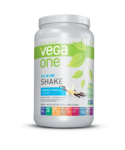 New Vega One All-in-One Nutritional Shake, French Vanilla, Large Tub, 29.2 Ounce