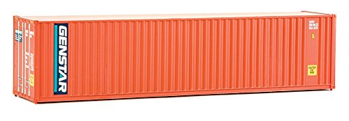 Scale Ho Walthers Container (Walthers SceneMaster 40' Hi-Cube Corrugated Container w/Flat Roof Genstar-Assembled Train Collectable)