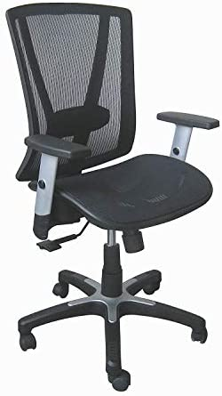 Ergonomic Executive Office Chair Black Breathable Mesh Back and Seat