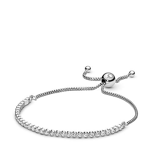PANDORA Sparkling Strand Bracelet, Sterling Silver, Clear Cubic Zirconia, 9.1 in  Cubic Zirconia Strand Earrings