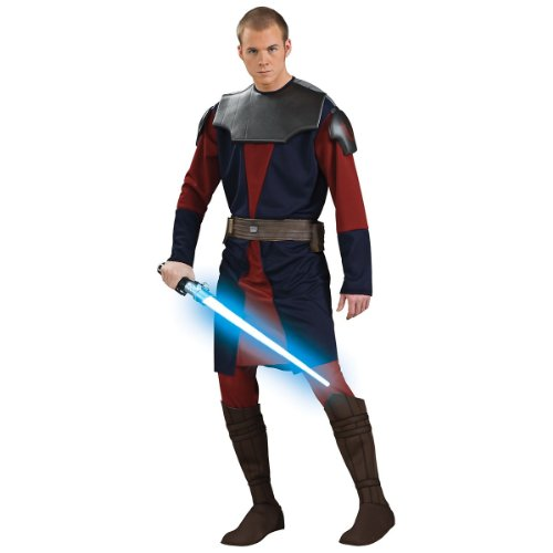 Adult Deluxe Anakin Skywalker Clone Wars Costumes (Deluxe Anakin Skywalker Costume - Standard - Chest Size 40-44)