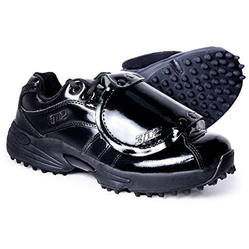 3N2 Men's Reaction Pro Plate Lo Shoes, Size 9, Black Patent Leather