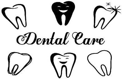 yaonuli Calcomanías de Vinilo Adhesivo para Ventana de protección Dental, calcomanías Decorativas para clínicas dentales, Retire el Papel Autoadhesivo 75x48cm