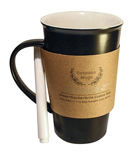 Bespoke Mugs - Write On Chalk Pen Marker Doodle Art Gratitude Mug, THE Ideal Gift