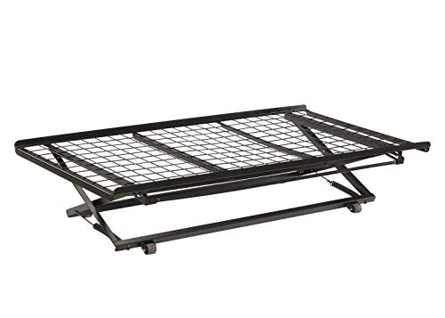 - Twin Pop Up Trundle Bed on Rollers Black
