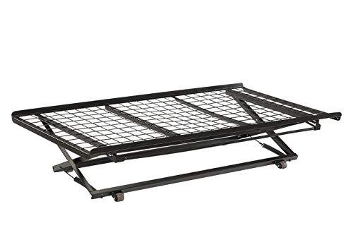 Twin Pop Up Trundle Bed on Rollers Black (Pop Up Frame Trundle)