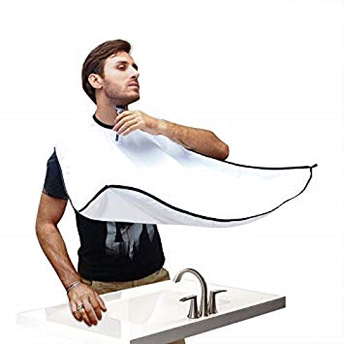 Beard 6-PACK Kit with Beard Apron/Bib for Mess-Free Shaving - Shaping Tool - Comb - Scissor - Bag, All you Need for a Good, Clean Shave, The Perfect Gift - By Cosmed Usa