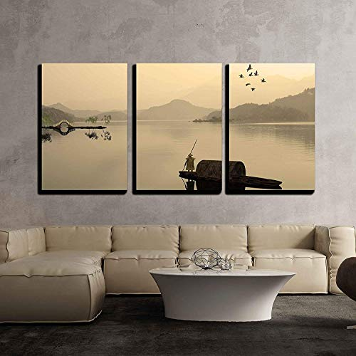 Chinese Landscape Painting Wall Decor x3 Panels