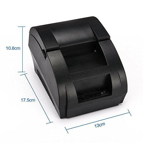 TEROW USB Thermal Receipt Printer 58mm Mini Portable Label Printer with High Speed Compatible with ESC / POS Print Commands Set,Easy to Setup (Thermal Maker Label Portable)