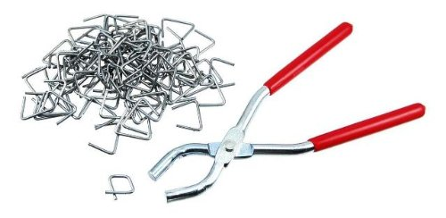 Hog Ring Pliers and 100-Piece Ring Set