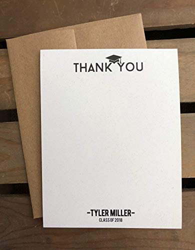 Amazon Com Graduation Thank You Notes Custom Stationery Set