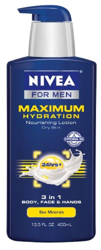 Nivea For Men hydratation maximale 3 en 1 hydratant corps, le visage et les mains, 13,5 onces
