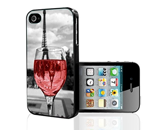 Turbo Delivery LLC - Wine Glass Paris-Rubber Case for Apple iPhone 7 (4.7 Inch), Made and Shipped from USA and delivered within 8 Days. Includes 2 front screen protectors. Style 14