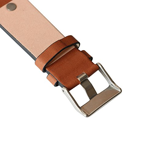 MSTRE NP67 24mm/26mm Calfskin Leather Watch Band Suitable for Men's Diesel Watches (24mm, Brown) by MSTRE (Image #6)