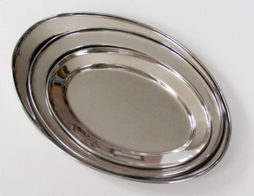 (3 Pc. Stainless Steel Oval Serving Set 14 In, 16 In, 18 In)