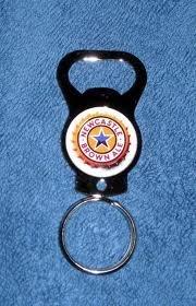 Newcastle Steel Keychain -New Sleek Design (Newcastle Ale Brown)