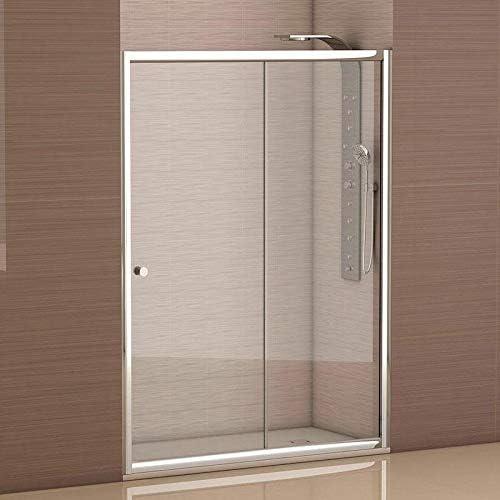 Mampara de ducha frontal 1 hoja fija + 1 hoja corredera con cristal transparente templado de seguridad de 4mm modelo Bricodomo Catalonia ANCHO 140 (Adaptable 138 a 140cm): Amazon.es: Bricolaje y herramientas