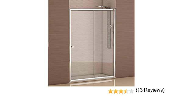 Mampara de ducha frontal 1 hoja fija + 1 hoja corredera con cristal transparente templado de seguridad de 4mm modelo Bricodomo Catalonia ANCHO 120 (Adaptable 118 a 120cm): Amazon.es: Bricolaje y herramientas