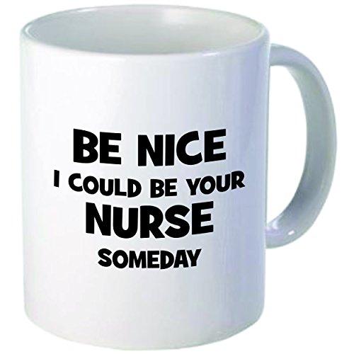 "Rikki Knight ""Be Nice I Could be Your Nurse"" Ceramic Coffee Mug, 11 oz, White"
