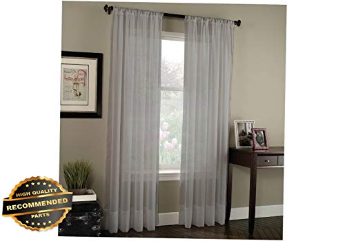 Gatton Elegant Solid Sheer Panel Window Curtain 2 Panels | Style WNDWSCURT-01120191 | 108 Extra Long