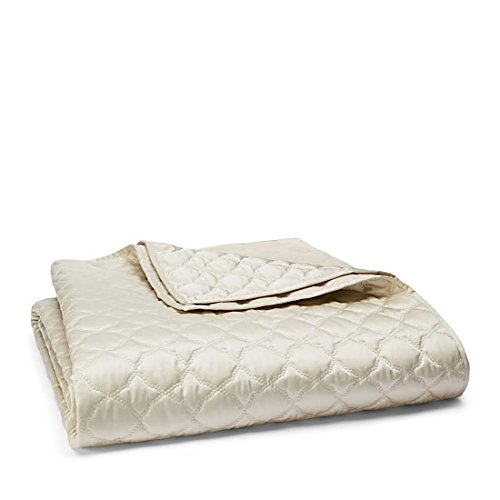 Hudson Park Verraine Cream QUEEN Quilted Coverlet