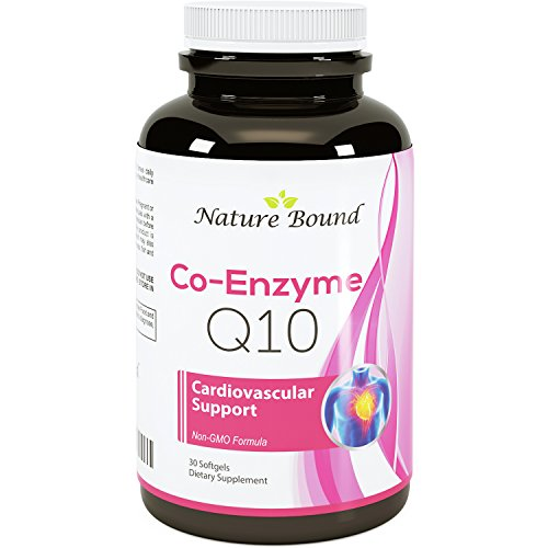 Natural Coq10 Ubiquinone Soft Gels Super Antioxidant Supplements for Women and Men Cell Growth and Maintenance Health and Wellness Vitamins for Beautiful Skin 30mg By Nature Bound Discount