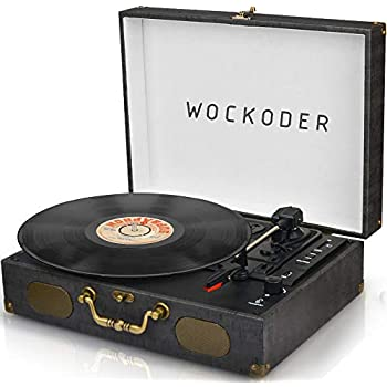 Vinyl Record Player Turntable Vintage Record Player with Speakers Portable Turntable Wireless LP Player Retro Record Player Classic Turntable