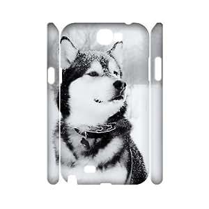 Diy Alaskan Malamute Phone Case for samsung galaxy note 2 3D Shell Phone JFLIFE(TM) [Pattern-1] WANGJING JINDA