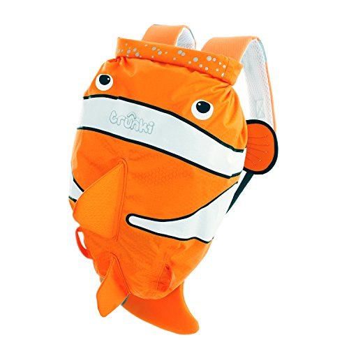 Trunki PaddlePak Water-Resistant Backpack - Chuckles the ClownFish (Orange)