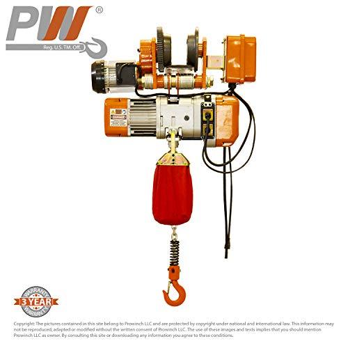1/2 Ton Electric Chain Hoist Power Trolley 20 ft. FEC G80 Chain M3/H2 110/120V