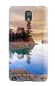 Snap-on Case Designed For Galaxy Note 3- Curme Islands
