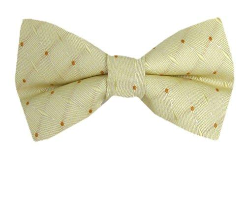B-PBT-CLP-600 - Yellow - Boys Clip On Bow Tie