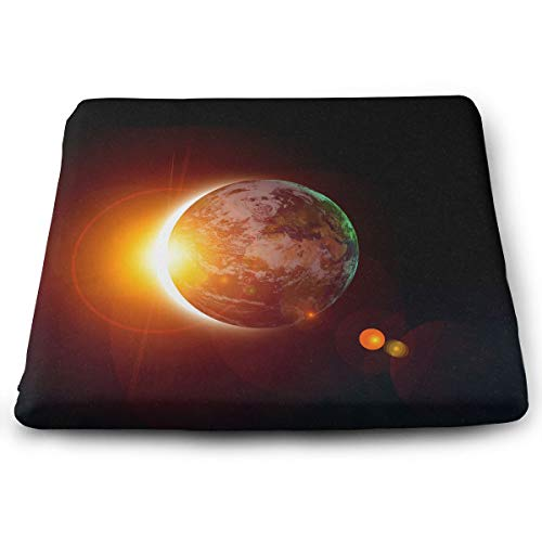 Comfortable Seat Cushion Chair Pad Solar Eclipse Sun Perfect Memory Foam Cushions Lighten The Bumps]()