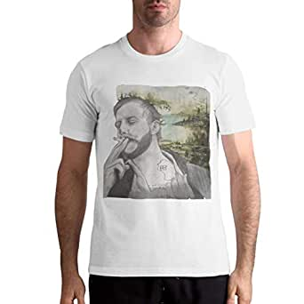 bon iver shirt men 39 s tees short sleeve o neck cotton tops clothing. Black Bedroom Furniture Sets. Home Design Ideas