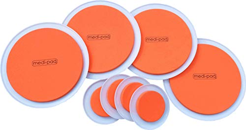 Medipaq GreatIdeas The SUPER FURNITURE SLIDERS (Genuine Original Orange Discs Moving Heavy Furniture over Carpet or Hard Surfaces Has Never Been Easier! 8 PIECE VALUE Pads PACK.