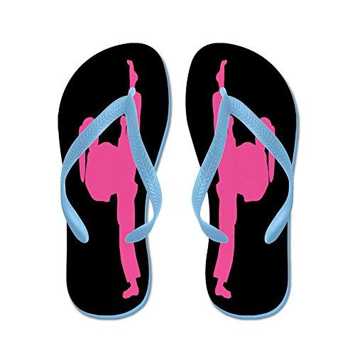 Cafepress Kampsporter Damer Rosa - Flip Flops, Roliga Rem Sandaler, Strand Sandaler Caribbean Blue