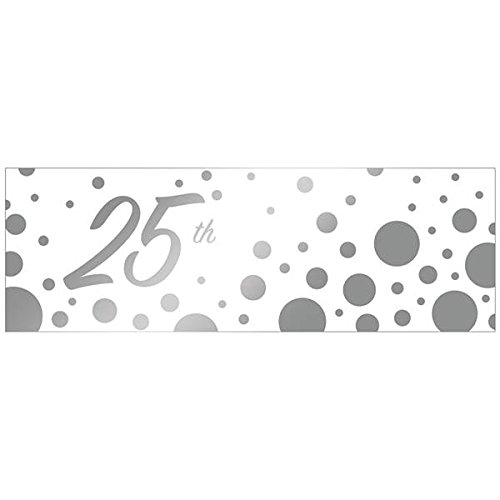 Creative Converting 320880 25th Anniversary Giant Party Banner