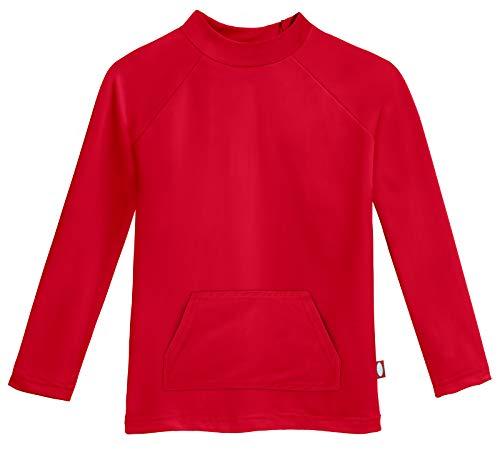 r Long Sleeve Pocket Rashguard, Red, 2T ()