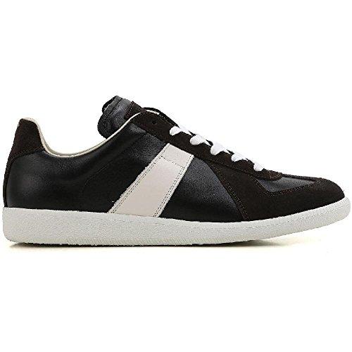 Maison Margiela Men's Black Leather Sneakers Shoes - Size: 7.5 - Margiela Boutique