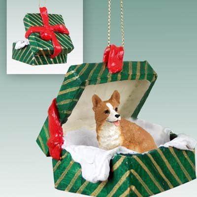 Conversation Concepts Welsh Corgi Pembroke Gift Box Green Ornament Set of 6