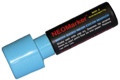 "NEOMarker Extra-Wide 1¼"" Tip Waterproof Glass Marker - Blue"