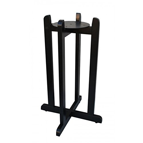 Lead-Free Porcelain Water Dispenser with Black Stripes and 27'' Black Wood Floor Stand by For Your Water (Image #6)