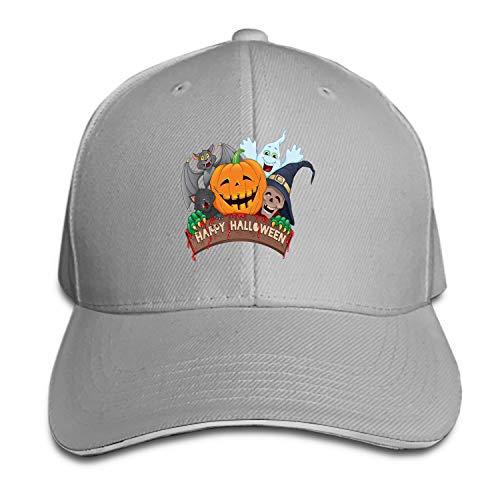 (Fitch Forster Unisex Happy-Halloween-Fun Cotton Denim Dad Hat Adjustable Plain)