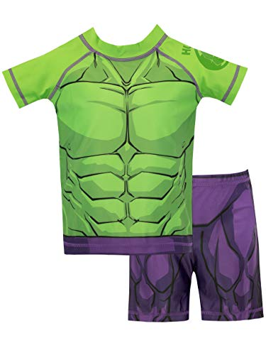 Marvel Boys' The Incredible Hulk Two Piece Swim Set Size 5 Green